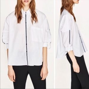 Zara Button Down Blouse Size Medium